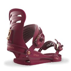 Union is devoted to making the best snowboard bindings on the planet. Select from mens bindings, womens bindings, and kids bindings. Snowboard Bindings, Snowboarding Women, Ankle Straps, Burgundy, Sandals, Lady, Shoes, Popular, Products