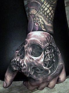 Men's Hand Skull Tattoos Designs                                                                                                                                                                                 More