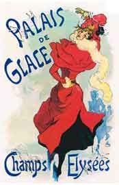Palais de Glace  Announcing the First Parisian Skating Rink   with Artificial Ice - 1890