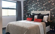 GJ Gardner Homes showhomes available to view now. See the great range of house designs we have available. Furniture, House Design, House, Feature Wallpaper, Home, Show Home, Bed, Bedroom