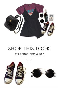 """""""badass"""" by vuesurciel ❤ liked on Polyvore featuring Converse and Kate Spade"""