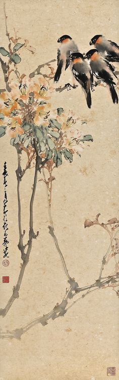 zhao, shao'ang blossom a ||| flowers & birds ||| sotheby's hk0392lot69qnqen