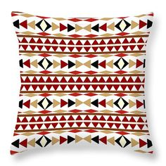 """#Navajo White #Pattern 14"""" x 14"""" Throw #Pillow by Christina Rollo.  Our throw pillows are made from 100% cotton fabric and add a stylish statement to any room.  Pillows are available in sizes from 14"""" x 14"""" up to 26"""" x 26"""".  Each pillow is printed on both sides (same image) and includes a concealed zipper and removable insert (if selected) for easy cleaning."""