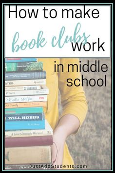 Literature Circle Lesson Plans: making book clubs work in Middle School – Just Add Students Ready to start a book club with your middle school students? Here are ideas, titles, and activities for literature circles. Middle School Literature, Middle School Libraries, Middle School Reading, Middle School English, Middle School Classroom, Literature Circles, English Classroom, Middle School Activities, Ela Classroom
