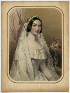 Music sheet cover for The Orange Blossom, ca 1850   via tumblr