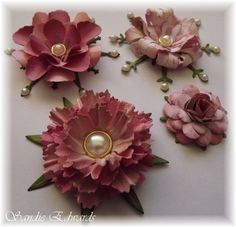 Delightfully Crazy: Four Different Flowers - Tutorial - Cheery Lynn Designs