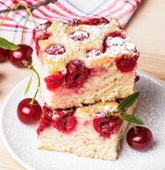 Cherry Vanilla Cake Recipe, Food Cakes, Cupcake Cakes, Cupcakes, Cherry Tart, Sweet Cherries, No Cook Desserts, Cake Shop, Desserts
