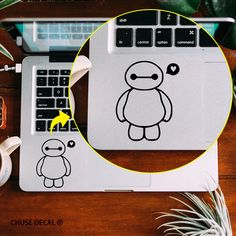 """Sweet Heart Baymax Laptop Touchpad Decal Notebook Trackpad Sticker for Apple 11"""" 12"""" 13"""" 15"""" Macbook Air/ Pro/ Retina Skin Decal #Affiliate"""