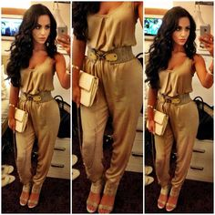 My #ootd today!!! Romper: #asos purse: #forever21 shoes: #bcbg belt: #knowstyle earrings: @ludoraboutique 10% off my collection !!! Use code: carlibybel ❤
