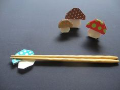 bunch of origami mushroom links, mostly video