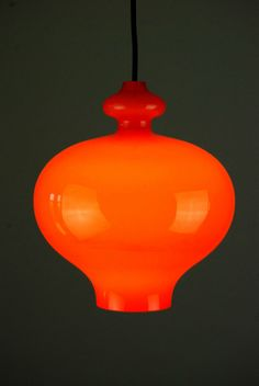 1970s Glass STAFF Pendant Lamp Danish Modern Mid Century Holmegaard Eames 60s