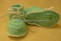 Marumin Crochet: Otro zapatito de bebe - tipo botín                                                                                                                                                     Más