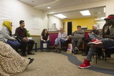 """The organizer behind the International Institute of New England's live storytelling series """"Suitcase Stories"""" sees it as a way to break down cultural barriers and turn strangers into neighbors in a divisive political climate."""