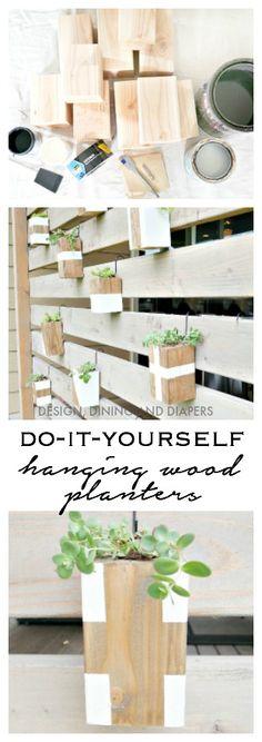 DIY Hanging Wood Planters - Get the Tutorial