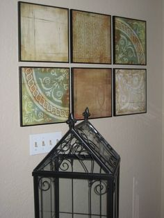 scrapbook paper wall art