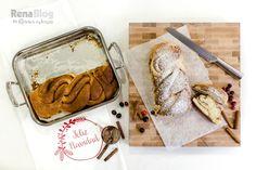 Trenza de pan dulce en la Contessa de Rena Ware lista para disfrutar