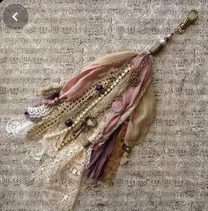 Textile Jewelry, Fabric Jewelry, Diy Jewelry, Jewlery, Diy Tassel, Lace Silk, Fabric Beads, Beaded Brooch, Shabby Chic Decor