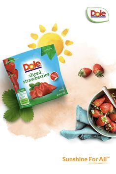 While one cup of frozen strawberries is an excellent source of Vitamin C, one bag of strawberries is an excellent source of overall deliciousness. #SunshineForAll