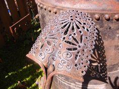 Hand Cut Industrial Metal Lace Shovel Garden Art by MetalGarden, $160.00