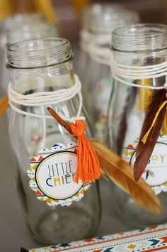 Tribal Little Brave Man themed baby shower via Kara's Party Ideas KarasPartyIdeas.com #tribalbabyshower (15)