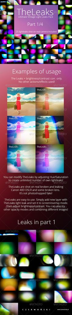 TheLeaks - Ultimate Vintage Light Leaks Pack. Only $6 @GraphicRiver