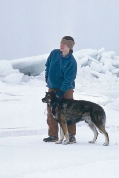 Susan Butcher and her dog Granite