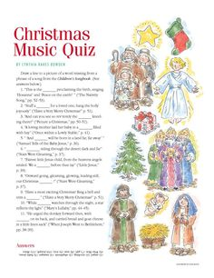 "Christmas LDS Music Quiz from ""The Friend"""
