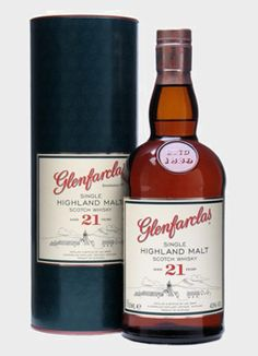 Glenfarclas 21 Year Old Whisky - The perfect whiskey to get the party going.  $93.22