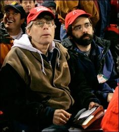 Stephen King with his son (and fellow horror writer) Joe Hill <3