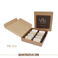 PB016 Stone Sample Box Website: www.quartzdisplay.com Email: Admin@quartzdisplay.com