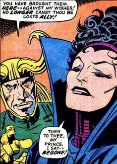 ©Jack Kirby Loki, Thor, Asgard Marvel, Jack Kirby Art, Classic Comics, Comic Page, Vintage Comics, Marvel Art, Comic Artist