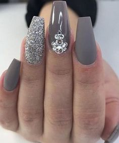 26 Overwhelming Crystal Jeweled Nail Art Designs