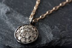 Pavé Diamond Disc Necklace by LexLuxe
