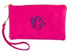 Monogram Hot Pink Crossbody Purse | $32 | jewelboxonlilne.com