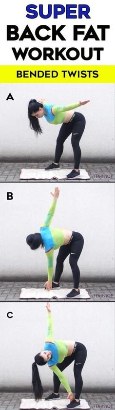Gym & Entraînement  : Lower and Upper Back Fat Workout at Home  Want a effective back fat exercise wi
