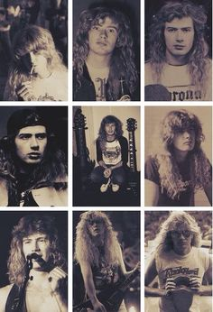 I die everyday Metallica, Dave Mustaine Young, Dave Mustane, Hard Rock, Band Photos, Metal Girl, Heavy Metal Bands, Thrash Metal, Van Halen