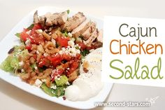 Cajun Grilled Chicken Salad - this is a must try!  http://second-stars.com/cajun-chicken-salad/