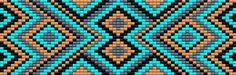 bead loom pattern - on wayuu would be nice! Seed Bead Patterns, Peyote Patterns, Beading Patterns, Bead Loom Designs, Miyuki Beads, Mochila Crochet, Card Weaving, Bead Loom Bracelets, Native Beadwork