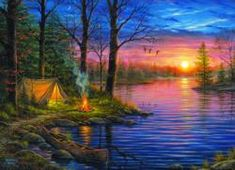 Evening Mist Sunrise/Sunset Jigsaw Puzzle