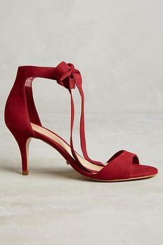 Slide View: 2: Schutz Tilan Ankle-Tie Heels