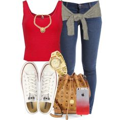 Red., created by cheerstostyle on Polyvore