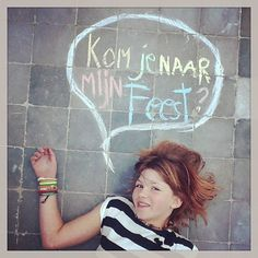 Tof idee voor de uitnodiging #jarig #uitnodiging #hetlandvanooit http://www.hetlandvanooit.be