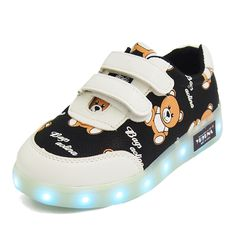 Eur22-30// USB charging children basket led shoes kids with lights up glowing lighted shoes for girls&boys luminous sneakers #Affiliate