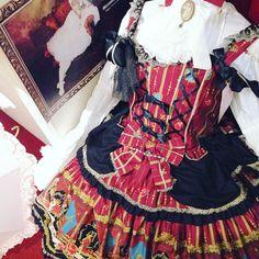 """metamorphose (@metamorphosetempsdefille) on Instagram: """"Few in stock  Tales of Kingdom Bustle Dress in Wine"""