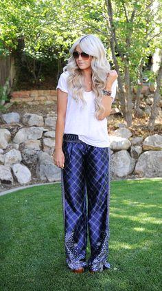 Spiegel Deco Pant as worn by @Cara Van Brocklin  #SpiegelStyle | Shop now: http://www.spiegel.com/deco-pant-45748.html