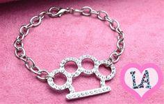 brass knuckle bracelet