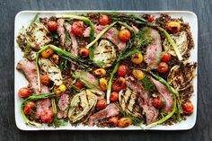 Grilled fennel, tomatoes, and scallions and cumin-rubbed grilled steak turn this quinoa salad into a one-dish dinner you'll want to keep serving all summer long.
