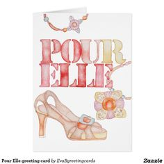 Shop Pour Elle greeting card created by EvaBgreetingcards. It's Your Birthday, Ipad Case, Iphone Case Covers, Birthday Invitations, Create Yourself, Greeting Cards, Watercolour, How To Make, Fashion