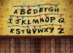 stranger alphabet lights upside backdrop down living demogorgon joyce fabric stand backdrops