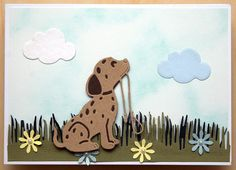 Using Tattered lace Puppy die, and selection of dies.